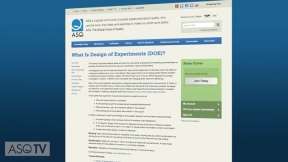 Quality Tool: Design of Experiments