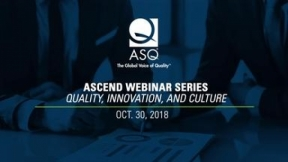 Ascend Webinar Series: Quality, Innovation, and Culture