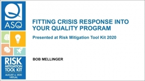 ARCHIVE: Fitting Crisis Response into your Quality Program